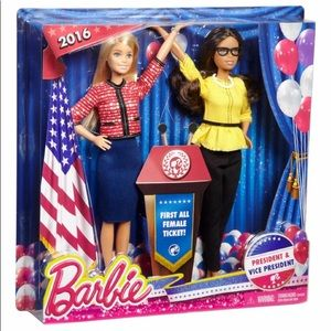 Barbies first ever political female duo.NWT